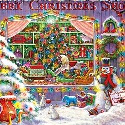Пазл онлайн: Праздничная витрина