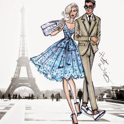 Пазл онлайн: Свидание в Париже