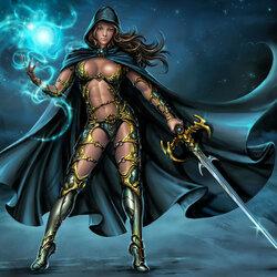 Пазл онлайн: Воинственная волшебница