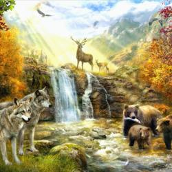 Пазл онлайн: Осенний мир
