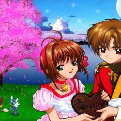 Пазл онлайн: Сакура и Ли