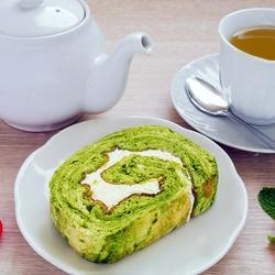 Пазл онлайн: Рулет к чаю