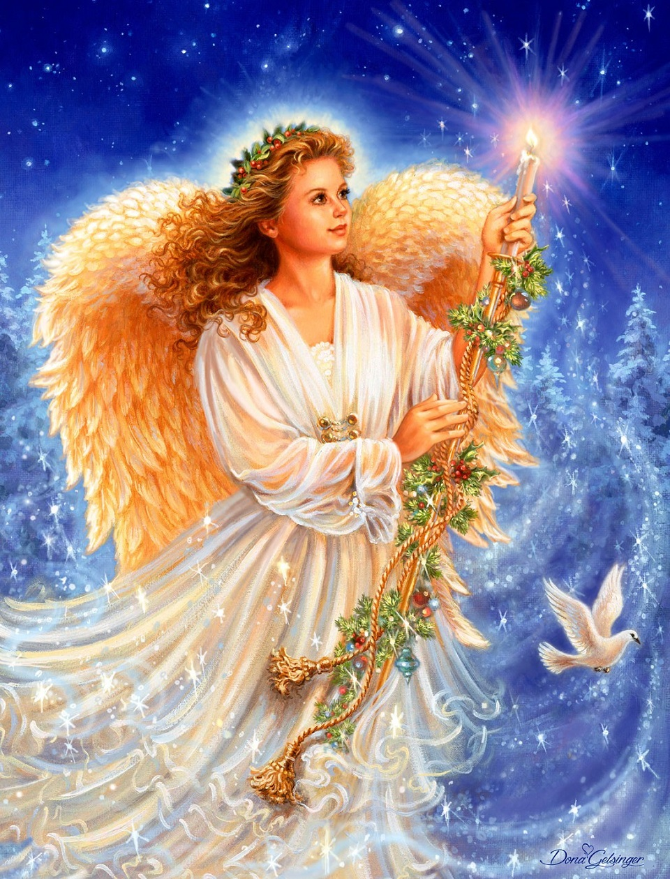 Фото открытка ангел