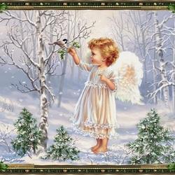 Пазл онлайн: Крошка-Ангел