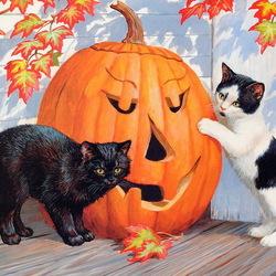 Пазл онлайн: Скоро Хэллоуин