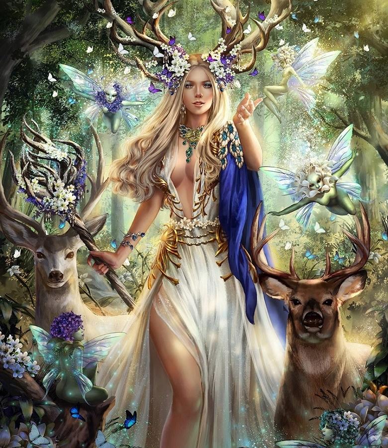 попадались картинки эльфы и животные натальи были очень