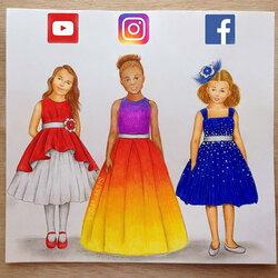 Пазл онлайн: Социальные медиа дети