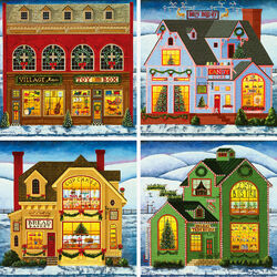 Пазл онлайн: Рождественские магазины