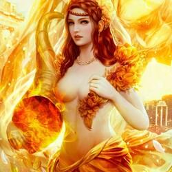 Пазл онлайн: Золотая богиня Фортуна