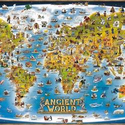 Пазл онлайн: Карта древнего мира