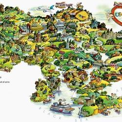 Пазл онлайн: Иллюстрированные карты мира. Украина