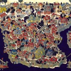 Пазл онлайн: Карта древнего Константинополя