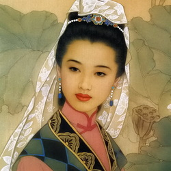 Пазл онлайн: Прекрасная китаянка