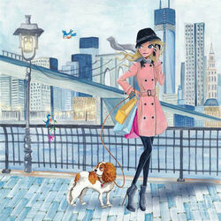 Пазл онлайн: Девушка в Нью-Йорке