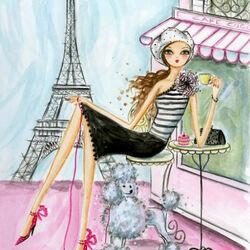 Пазл онлайн: Девушка в Париже