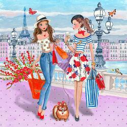 Пазл онлайн: Весной в Париже