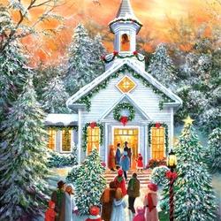 Пазл онлайн: Праздничная служба