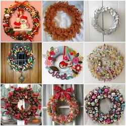 Пазл онлайн: Рождественские венки
