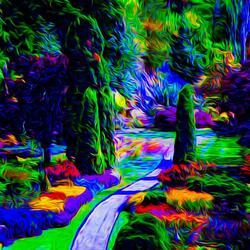 Пазл онлайн: Радужный лес