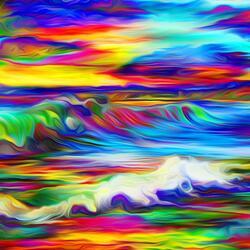 Пазл онлайн: Береговые волны