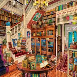 Пазл онлайн: Книжный рай