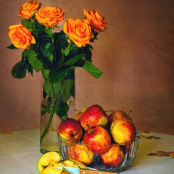 Пазл онлайн: Оранжевые розы