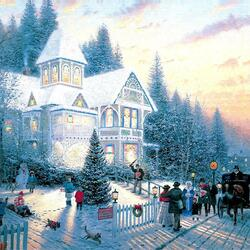 Пазл онлайн: Викторианское Рождсество