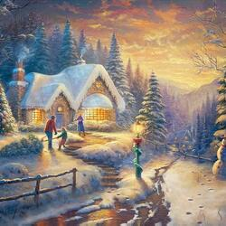 Пазл онлайн: Елка на праздник