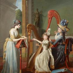 Пазл онлайн: Урок игры на арфе