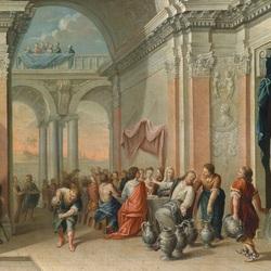 Пазл онлайн: Брак в Кане Галилейской