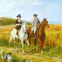 Пазл онлайн: Утренняя езда
