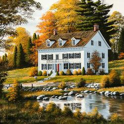 Пазл онлайн: Дом в Новой Англии