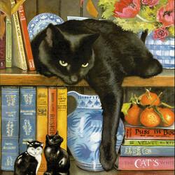 Пазл онлайн: Культурный кот