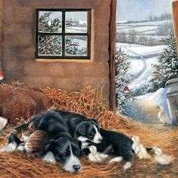 Пазл онлайн: Холодным зимнем днём