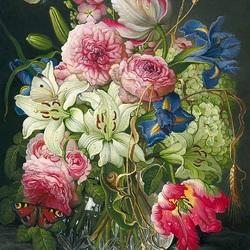 Пазл онлайн: Лилии и тюльпаны