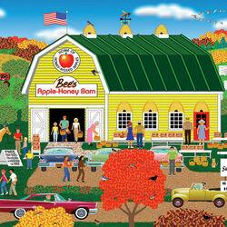 Пазл онлайн: Продажа яблок и меда