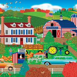 Пазл онлайн: Старая ферма Glory