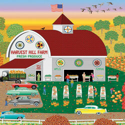 Пазл онлайн: Ферма Harvest Hill