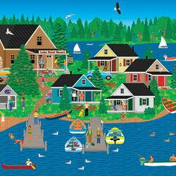 Пазл онлайн: Курорт на озере