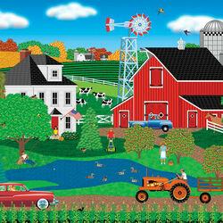 Пазл онлайн: Приятный день на ферме