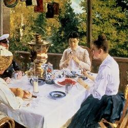 Пазл онлайн: За чайным столом