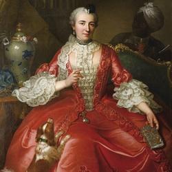 Пазл онлайн: Дама в красном