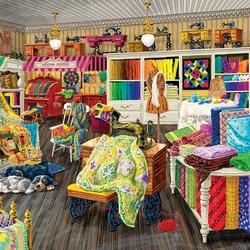 Пазл онлайн: Швейная мастерская