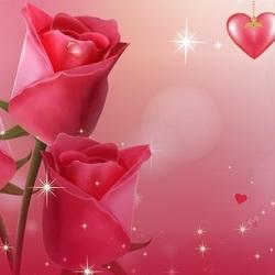 Пазл онлайн: Сердечки и розы