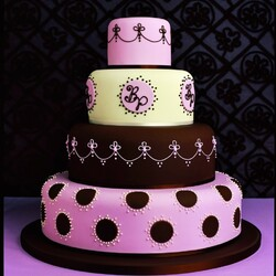 Пазл онлайн: Тортик розовый