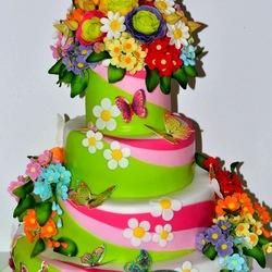 Пазл онлайн: Цветочный торт