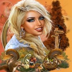 Пазл онлайн: Осенняя фея