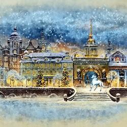 Пазл онлайн: Рождество в Санкт-Петербурге