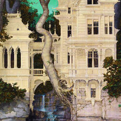 Пазл онлайн: Замок над водопадом