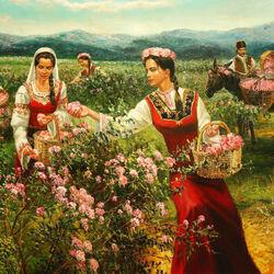 Пазл онлайн: Сбор роз